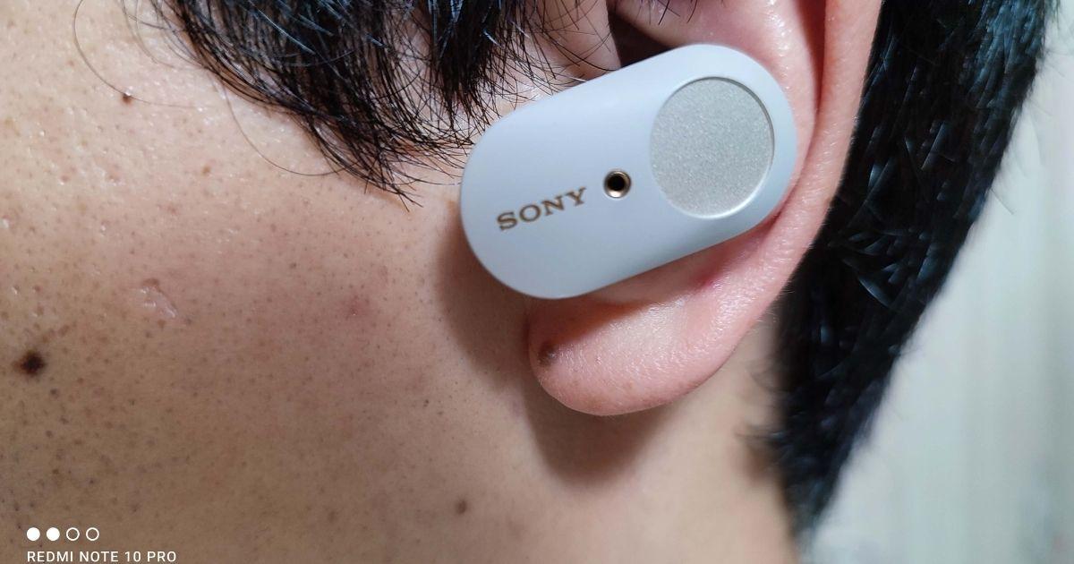WF-1000XM3耳に装着