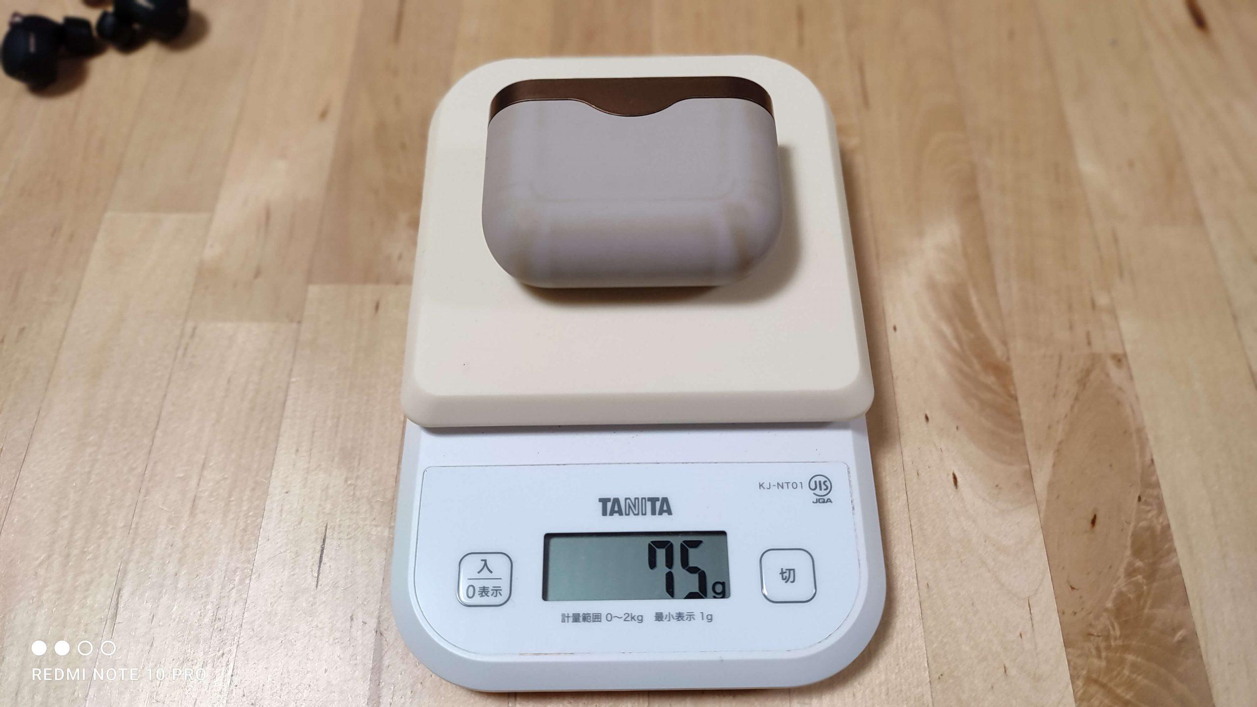 イヤホンケース重量計測
